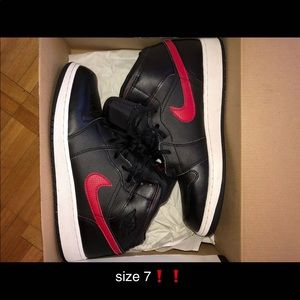 Red and Black Air Jordan 1's